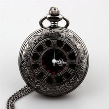 The new color guns necklace antique pocket watch men and women classic high grade black large