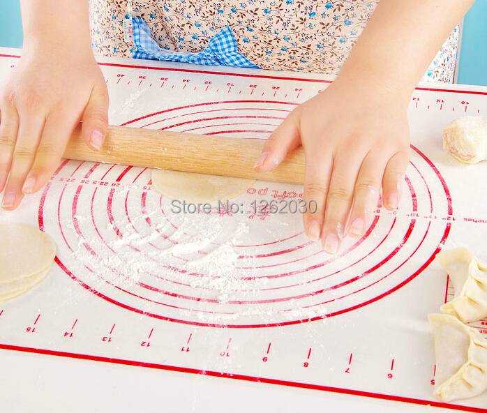 40*60cm Large size of silicone baking mat,attach scale Kneading dough mat,non-stick Silicone baking rolling pastry mat(China (Mainland))