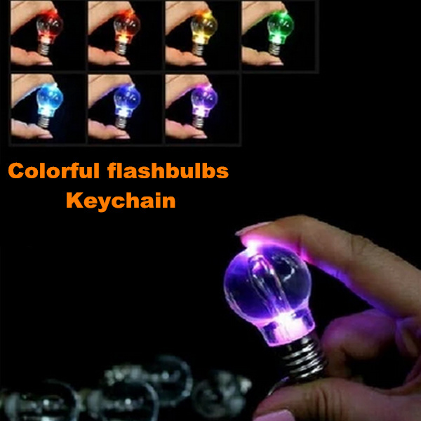 Creative LED toys, color keychain flash, ABS + Electronic Components night light, outdoor emergency lights, 3 * 5.7cm, 10 x(China (Mainland))