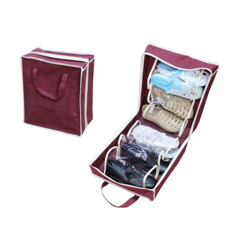 HIgh Quaility Travel Waterproof Ventilation Folding Shoes Storage organizer Portable Closet women men shoe bags 69999