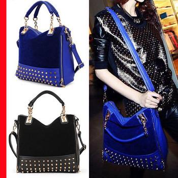 Women Rivet Punk Shoulder Handbags New Fashion Bags Ladies Chain Designers Handbags High Quality BK189