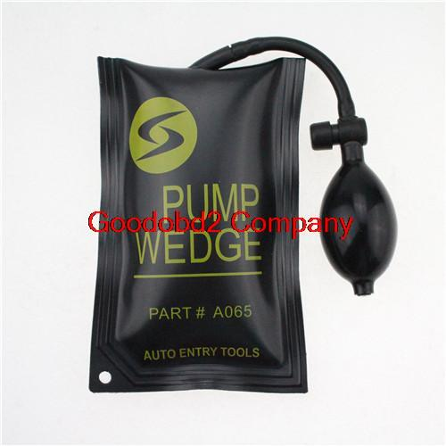 Best Black KLOM PUMP WEDGE LOCKSMITH TOOLS Auto Air Wedge Lock Pick Open Car Door Lock Small Size 19*12 CM(China (Mainland))