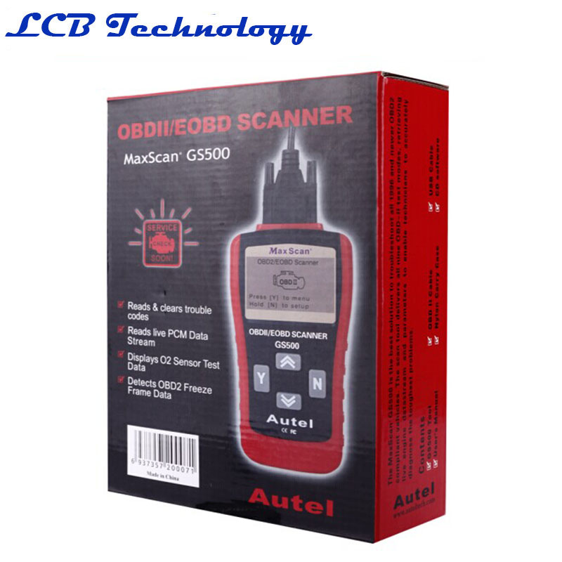 KW807 /GS500 OBD2 OBDII LCD Car Scantool Auto Automotive Truck Diagnostic Scanner Tool Computer Vehicle Fault Code Reader Scan(China (Mainland))