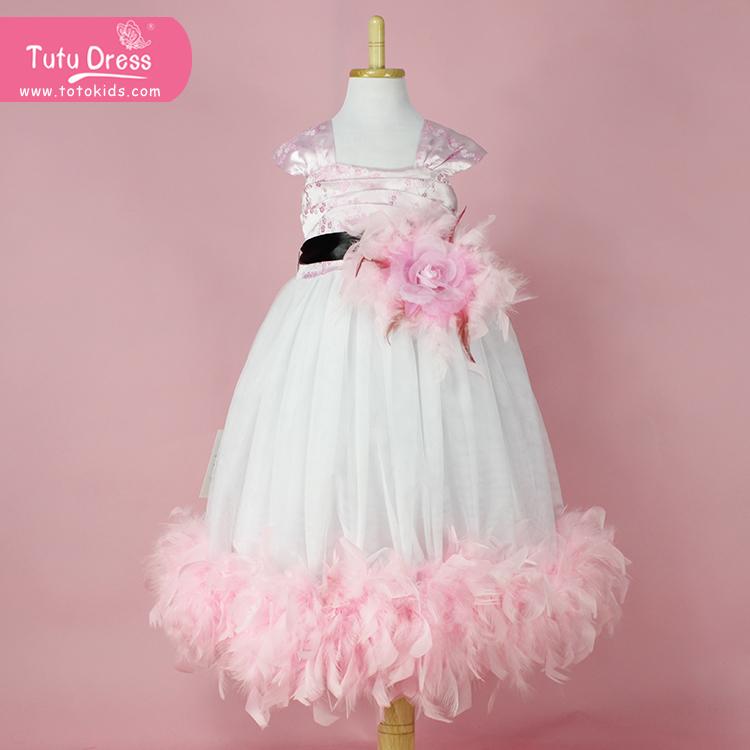 Pink Vestido Summer 1pc Girls Dress Hello KItty Princess Dance Birthday Wedding Party Flower Dress(China (Mainland))