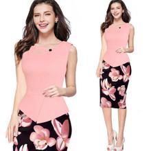 Buy New Summer Dress Sexy Fashion Plus Size 5XL Women Pencil Dress Patchwork Slim Bodycon Midi Office Dress OL Women Work Party Wear for $17.65 in AliExpress store