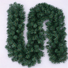 Christmas items decorazioni natale 270 cm Tree Decoration rattan Thick Tinsel Army Green Garland Party Decoration(China (Mainland))