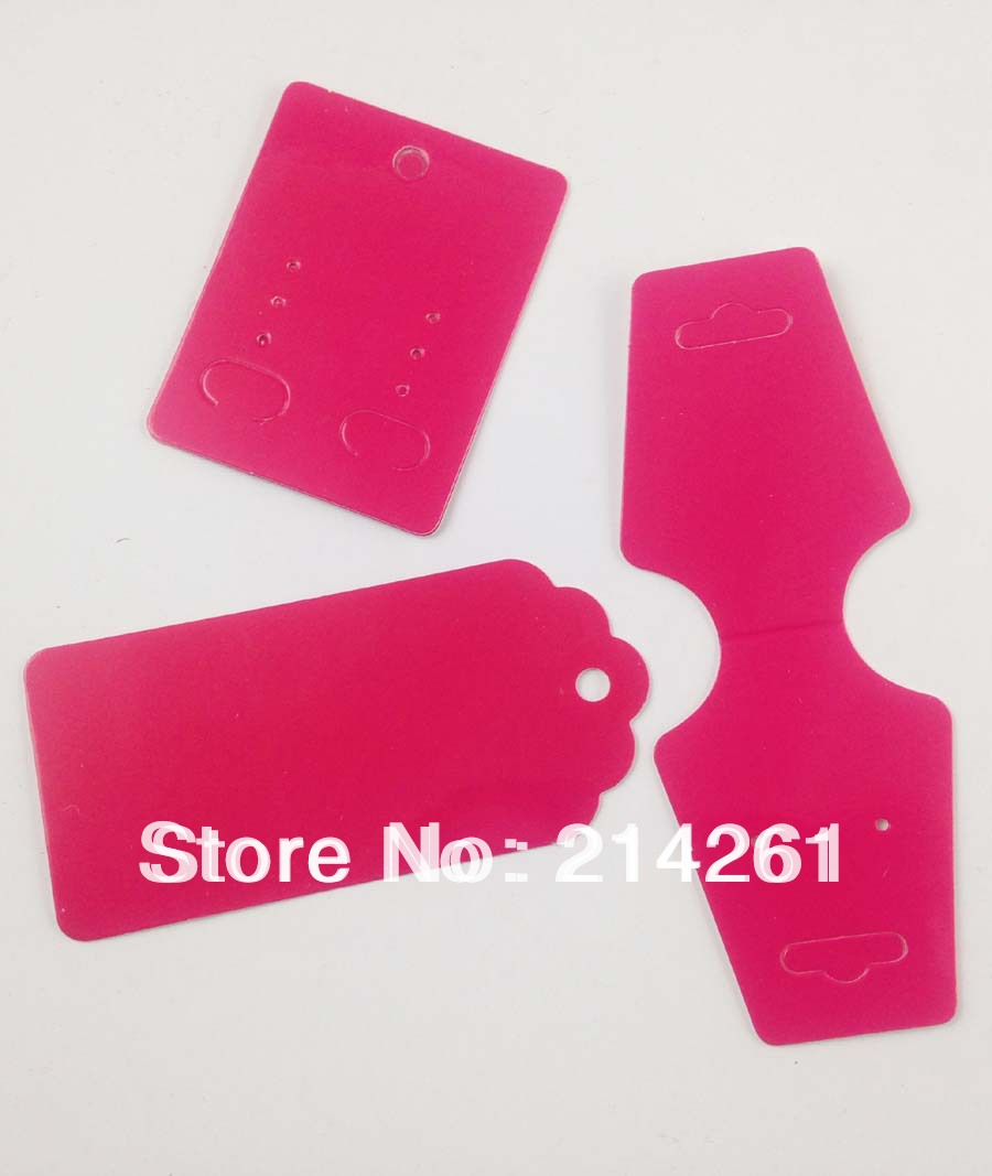 Wholesale Shiping By Express Free Shipping Fashion Earring card Hot Pink Necklace Card & Hang Tag Custom Logo cost extra(China (Mainland))
