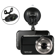 3inch 1080P FHD 2 Lens Car DVR with Rear view Camera Driving Recorder Dash Camcorder G-sensor Vehicle Camera with Night Vision(China (Mainland))