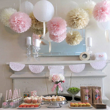 2016 New Cheap 30cm 5pcs/lot Paper PomPom Tissue Flower Balls for home wedding party car decoration mariage crafts Boda Supplies(China (Mainland))