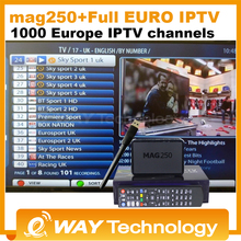 MAG 250 iptv Set Top Box sky Italy UK DE Linux European IPTV Box for Spain Portugal Turkish Netherlands MAG250 WiFi IPTV tv box(China (Mainland))