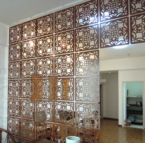 Fashion hanging screen wood partition bedroom wall post - Screens for doors that hang ...