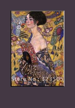 Abstract modern famous artist  home decoration wall art  Klimt lady oil painting on canvas free shipping