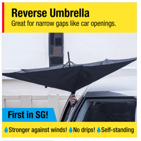 Здесь можно купить  Hot sale Reverse Umbrella open/close in the narrowest space without getting wet Creative graphic Windproof Car umbrella   Дом и Сад