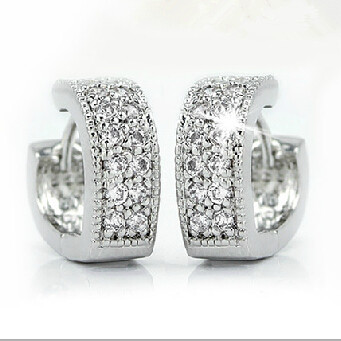 Серьги-гвоздики 60% , 925 Brincos JS1689 Women Silver Earrings
