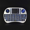 Free Shipping 2 4Ghz Mini Wireless Keyboard with Battery Backlit Touchpad for HTPC Mini PC TV