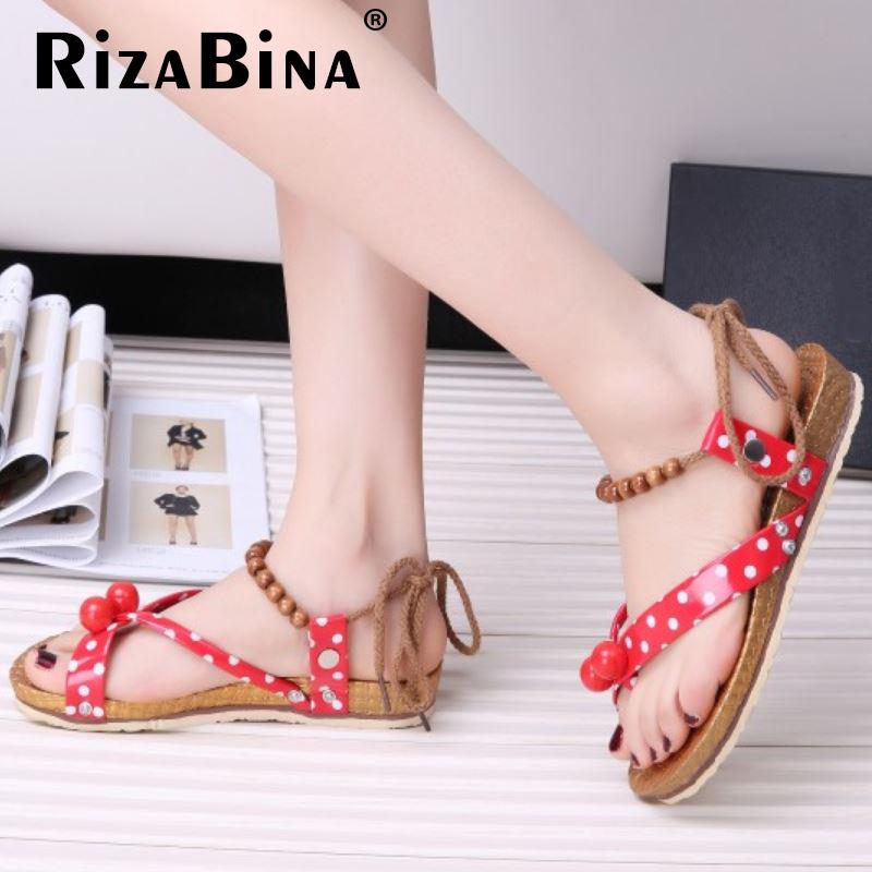 bohemia beading women sandals girl quality clip toe flat sandals brand sweet fashion ladies footwear size 35-39 WE0042<br><br>Aliexpress