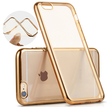 Case For Apple iPhone 6 6S 4.7″ / 6Plus 6S Plus 5.5″ / 4S 5S SE Royal Luxury Plating TPU Phone silicone soft Back Case Cover