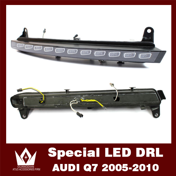 Night lord 12V 2005-2010 Car drl with turn signal function for audi Q7 Daytime Running Light Q7 LED DRL [Free Shipping by DHL](China (Mainland))