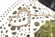 ROXI fashion empty heart necklace Christmas Birthdays gifts Austrian crystal Environmental hollow Jewelry 2030233390