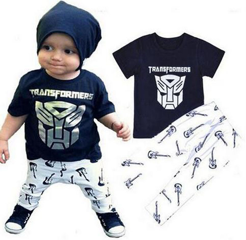 2016 Kids Suit Baby boys suit summer ins Iron Man t-shirt + pants two sets of leisure sets cartoon children's clothes(China (Mainland))