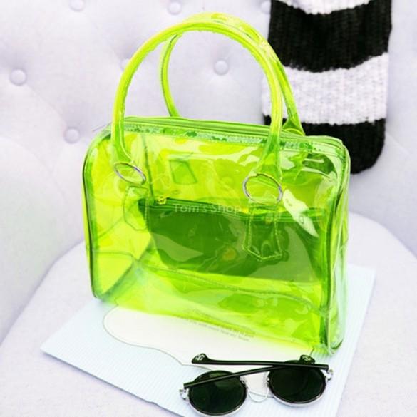 Сумка прозрачная, бордо - купить прозрачную женскую сумку