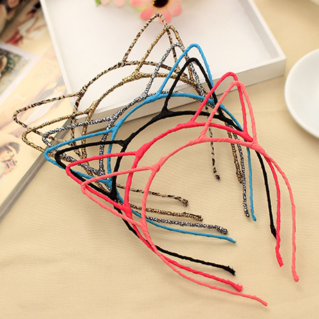 New Fashion 7 Colors Hair Accessories Cute Cat Ear Hairband Small Cat Headband for Women Hello Kitty Styling Tools Headwear(China (Mainland))