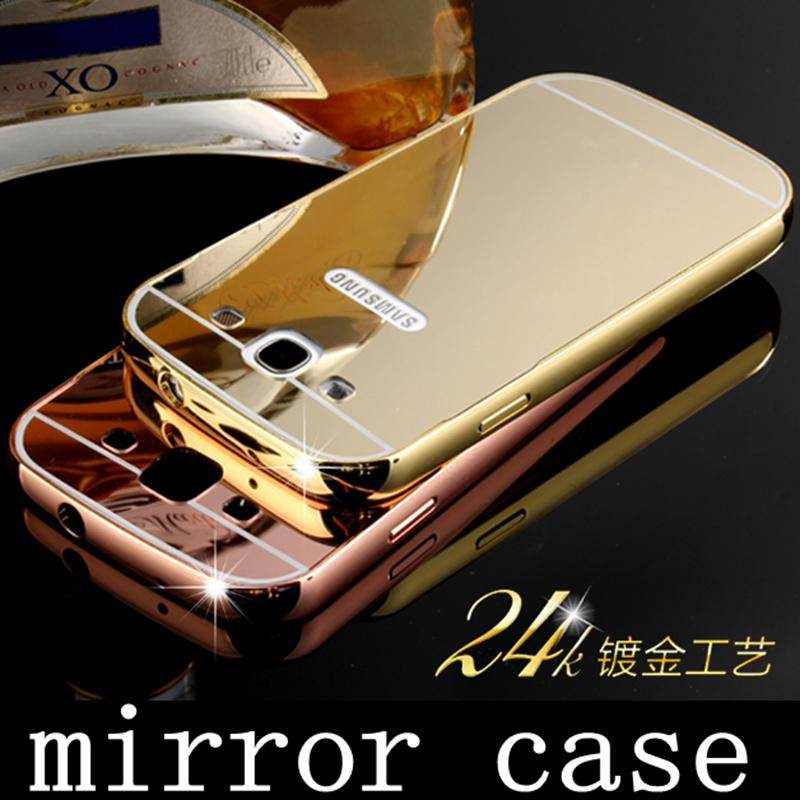Luxury metal plating Aluminum alloy Bumper soft acrylic mirror cover skin mobile phone frame case For Samsung Galaxy S3 i9300(China (Mainland))