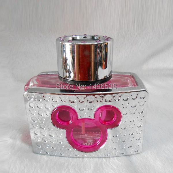 diamond mickey mouse design wine bottle liquid Car perfume comfortable smell fragrance(China (Mainland))