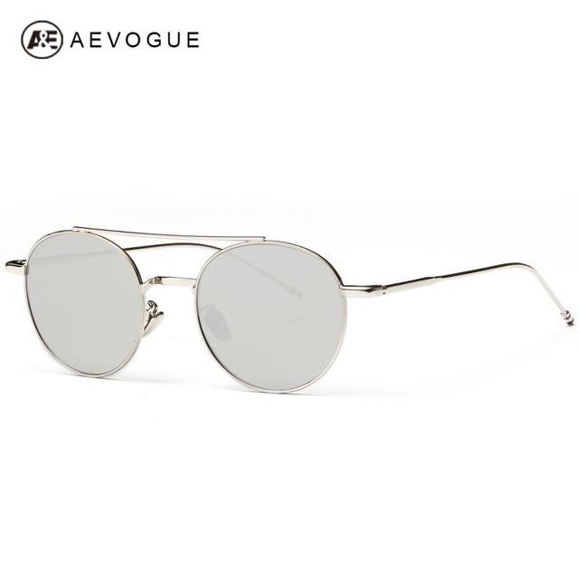 Aevogue овальный каркас солнцезащитные очки женщин дизайн летний стиль солнцезащитные очки сплава храм óculos De Sol Feminino UV400 AE0288