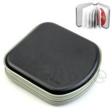 hot 40 Disc Black Plastic Box CD VCD DVD Wallet Album Storage Organizer Bag Case(China (Mainland))