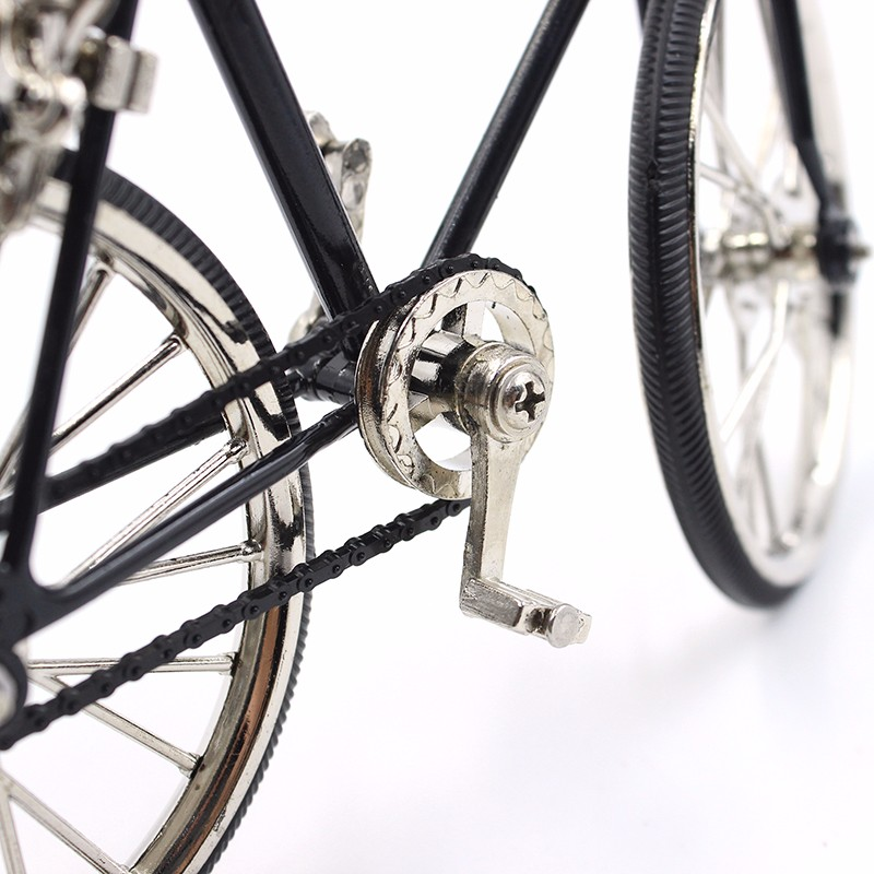 3D Miniature Bicycle Decoration Accessories Vintage home decor Mini Racing Bike 3 Colors Metal Craft Creative Gift For Children