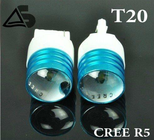 Freeshipping/2pcs/Car lights,CREE T20 LED Braking Reverse lights,Turn Signal Side Marker Car Tail Light fog Bulb R5