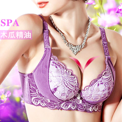 Women's underwear oil water bag massage bra small breast adjustable super push up thick cup sexy summer(China (Mainland))