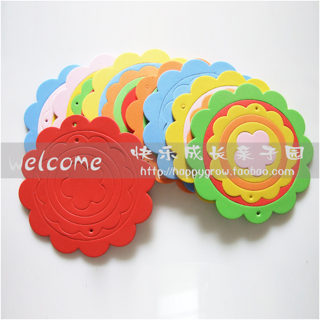 Wall stickers eva railings photo frame wave disc laciness platter