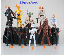 10PCS/lot my little star wars darth vader Strom Trooper master poni yoda 8-18cm Action Figures juguetes toys kids christmas Gift