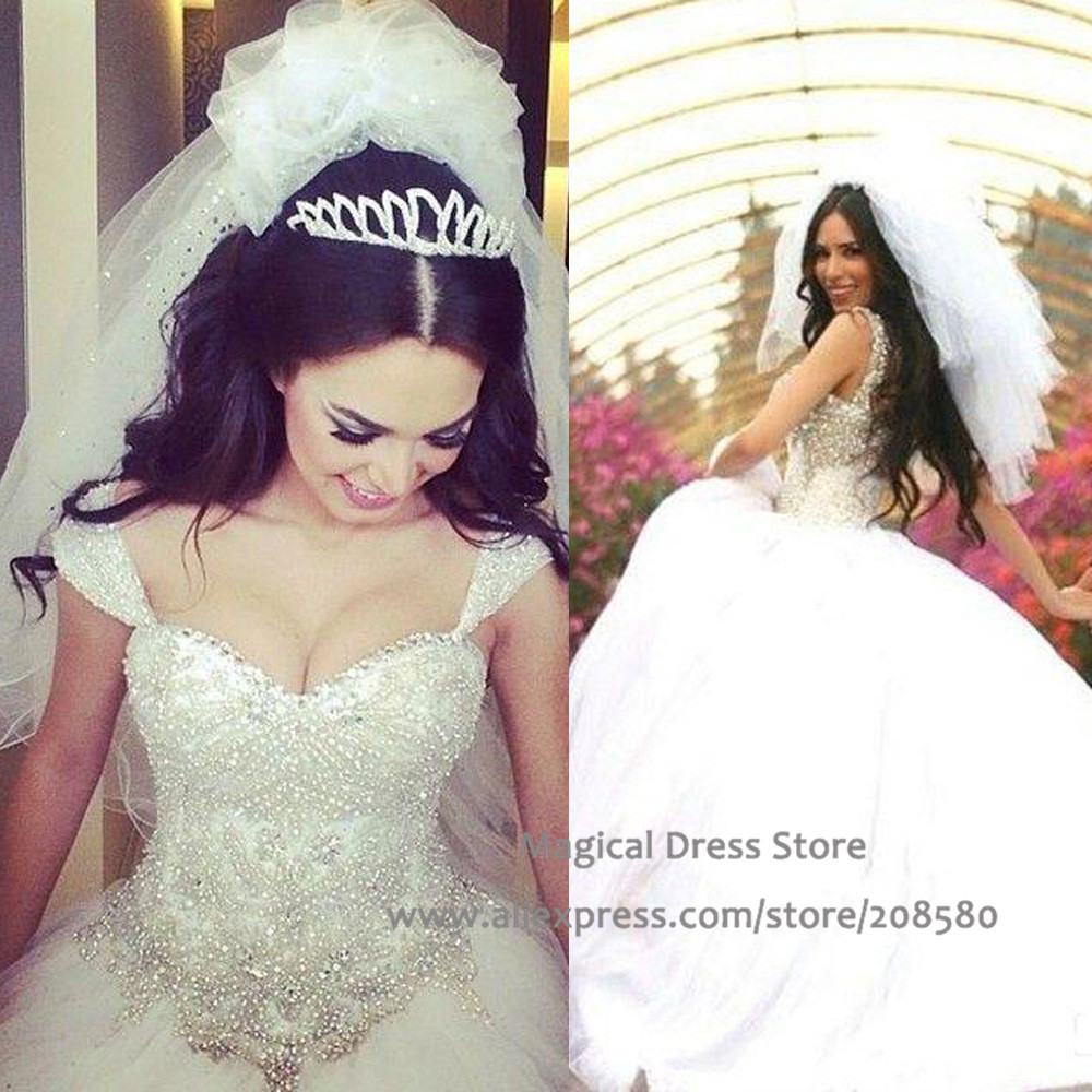 beaded appliques wedding dresses rhinestone wedding dress Beaded Appliques Wedding Dresses 48