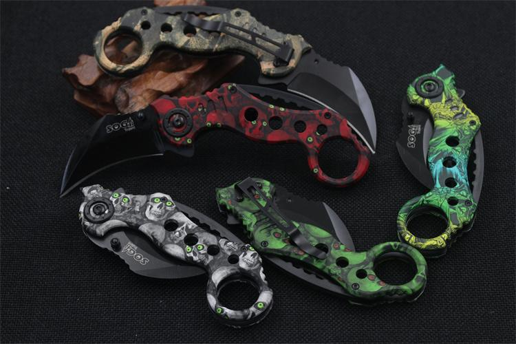 Buy Cool Fashion Hunting Karambit Knife Cs Go Counter Strike Warcraft Fighting Survival Tactical Knife Claw Camping Knives Tool cheap