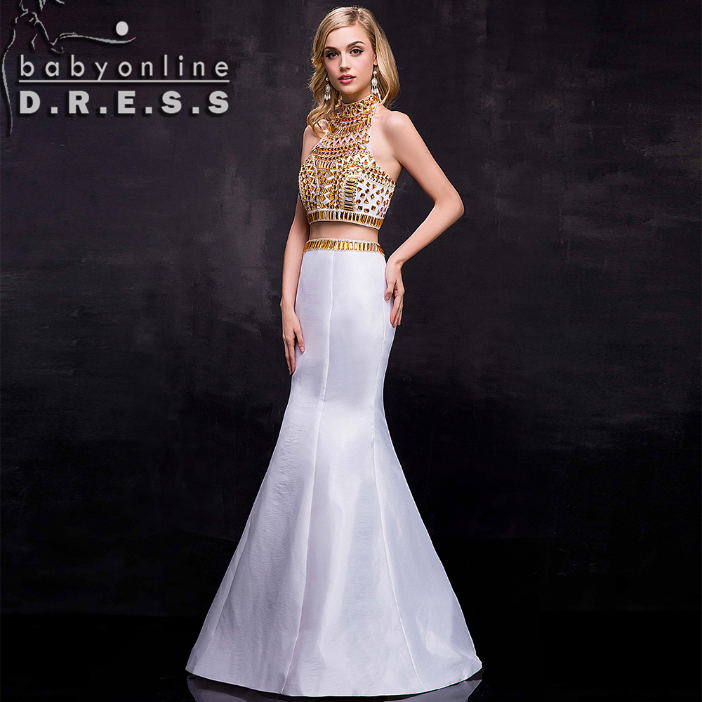 Images of Cheap White And Gold Prom Dresses - Reikian