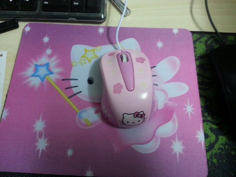 Hello Kitty wired Mouse Computer USB 3D Optical Mouse For computer laptop(China (Mainland))