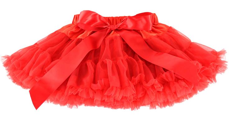 1-10 age girl skirts 2015 baby Chiffon Red tutu saia tule infantil little girls skirt pettiskirt girls skirt Bow Kids Fashion(China (Mainland))