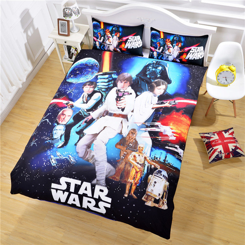 Flash Sale Star Wars Bedding 3D Unique Design Quilt Cover and Pillow Case Hot Gift Sheet Set Twin Full Queen(China (Mainland))