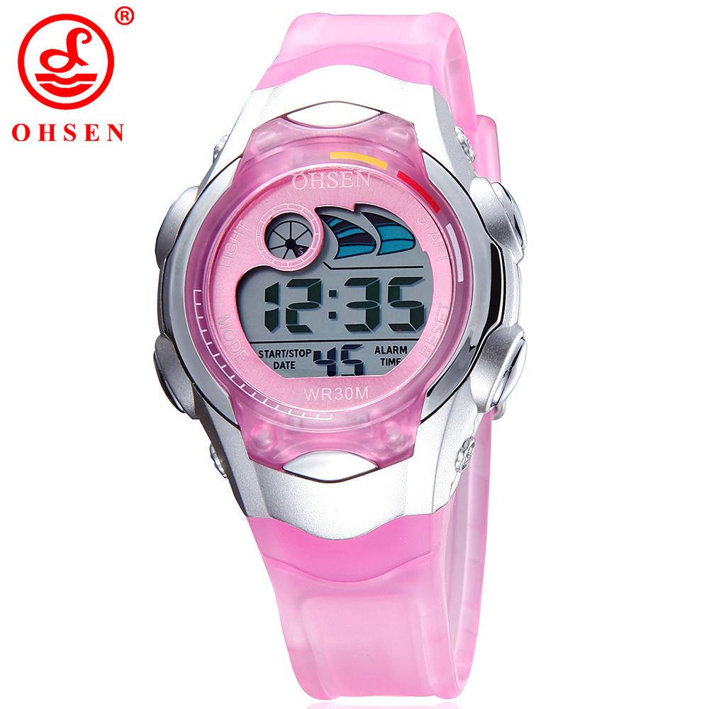 Ohsen Children Watch Sport Diving Watches Quartz Wristwatches Waterproof Lovely Kids Clock Boys Hours Girls Students Wristwatch(China (Mainland))