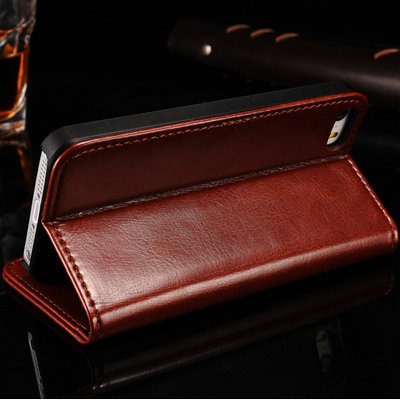 Здесь можно купить  Wholesale Wallet PU leather case for iPhone 5 5S 5G Phone Luxury Flip wih Stand Card Holder Original Vintage, 10 pcs/lot  Телефоны и Телекоммуникации