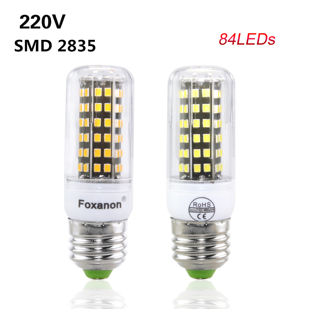 SMD 2835 E27 Led Lamp 84Leds Bulb 220V 230V 240V 7W Aluminum PCB Lampada Led Light Candle Focos Led Lampada Led Home Lighting(China (Mainland))
