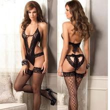 Details about Sexy Lace Lady Dress Lingerie Nightwear Underwear Babydoll Sleepwear Open Bra