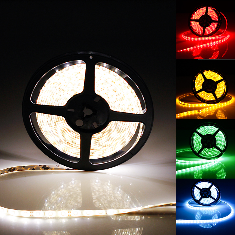 5630 5M 300SMD Super Bright Flexible LED Strip lights 60 LED/M Waterproof Indoor Outdoor White/Red/Amber/Blue/Green/Pink/Purple(China (Mainland))