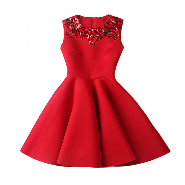 vintage red sequin dresses