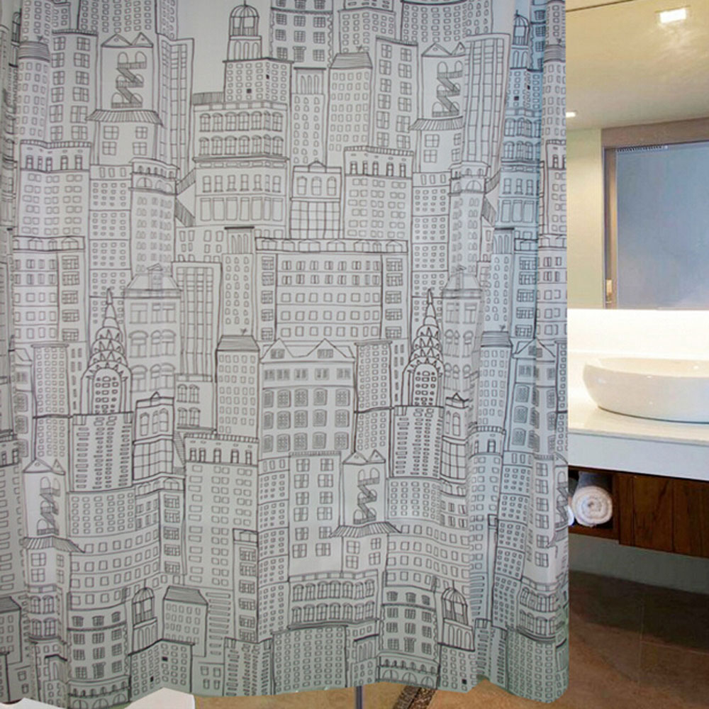 2015 luxury shower curtains bathroom products thick