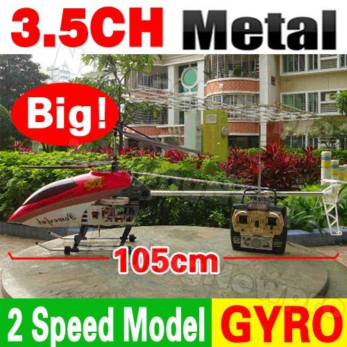 Free Shipping 105cm Huge Large Big 3.5CH RC Helicopter Metal Frame Gyro LED Radio Remote Control Electric Toy QS8005 QS 8005(China (Mainland))
