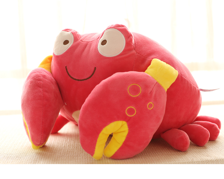 "13""~14"" 35cm stuffed animals crab Children's Cartoon Plush Soft Doll Best Birthday Gif For Child Crab Plush Toy With Big Pincers(China (Mainland))"